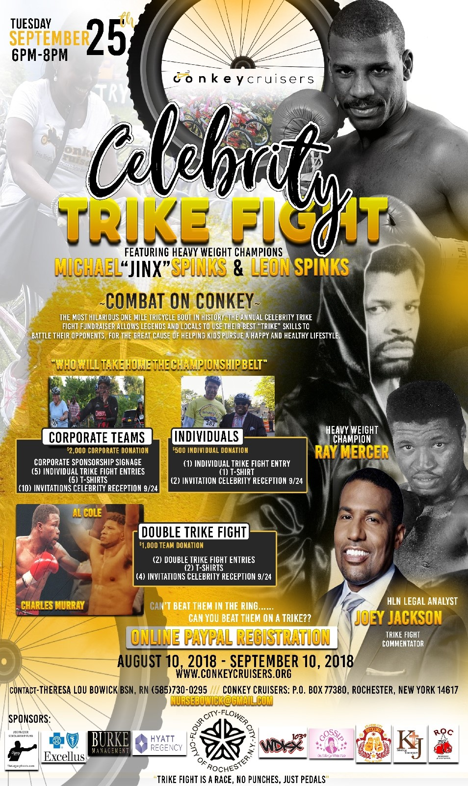 Combat on Conkey 2018 Flyer